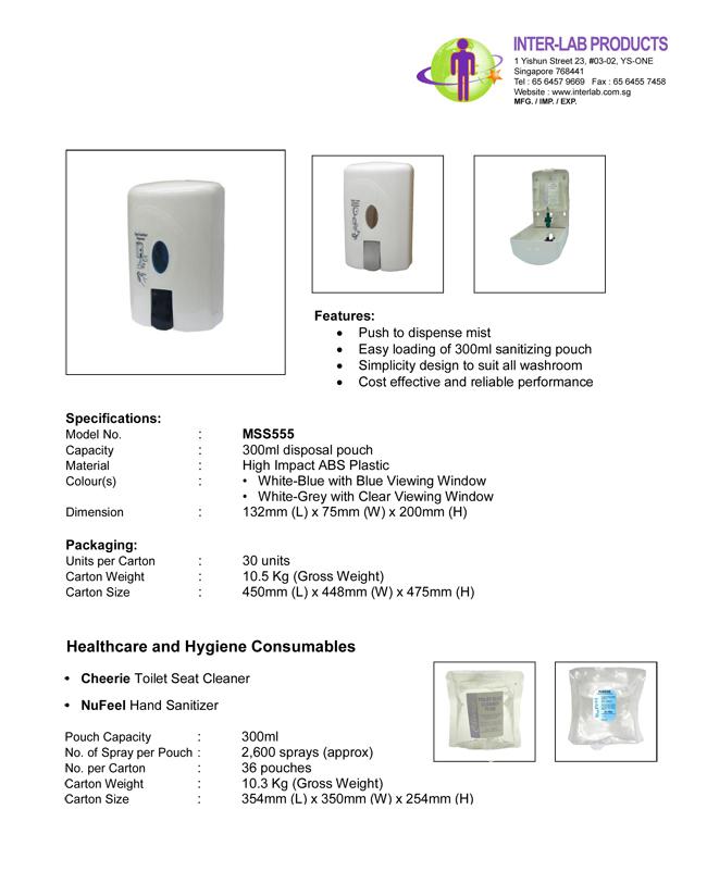 Toilet Seat Sanitizer MS555